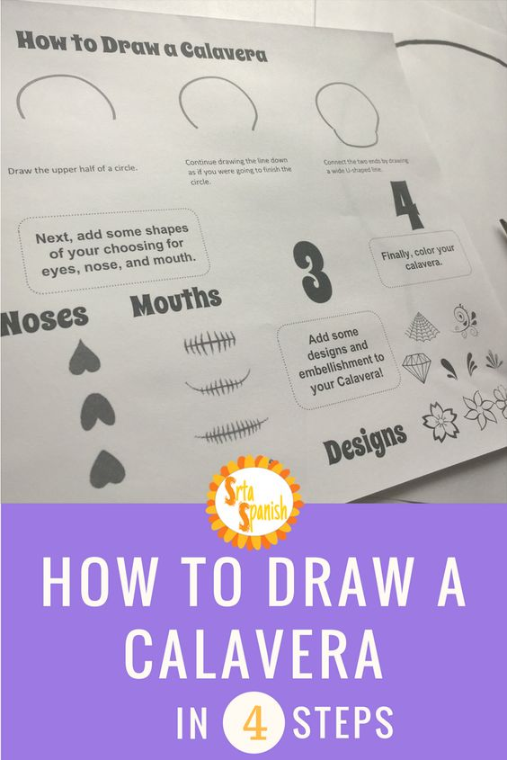 Let your students design their own calaveras with these four simple steps!