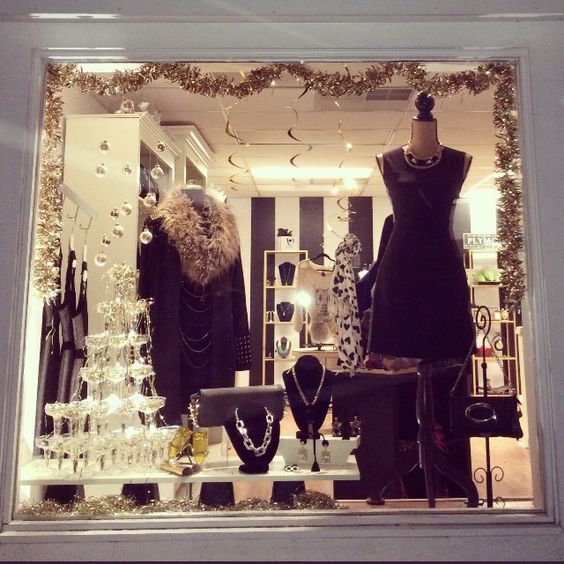 I loved creating this window display for Little Black Heart