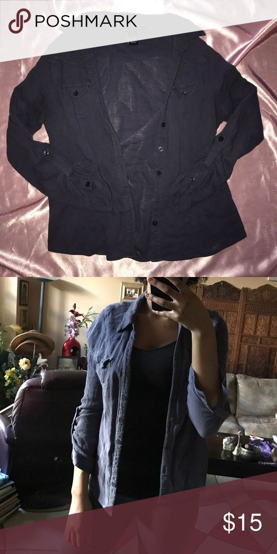 Button Down Shirt Has been worn many times but still in great condition. Listed as top shop for exposure. Feel free to bundle. Topshop Tops Button Down Shirts