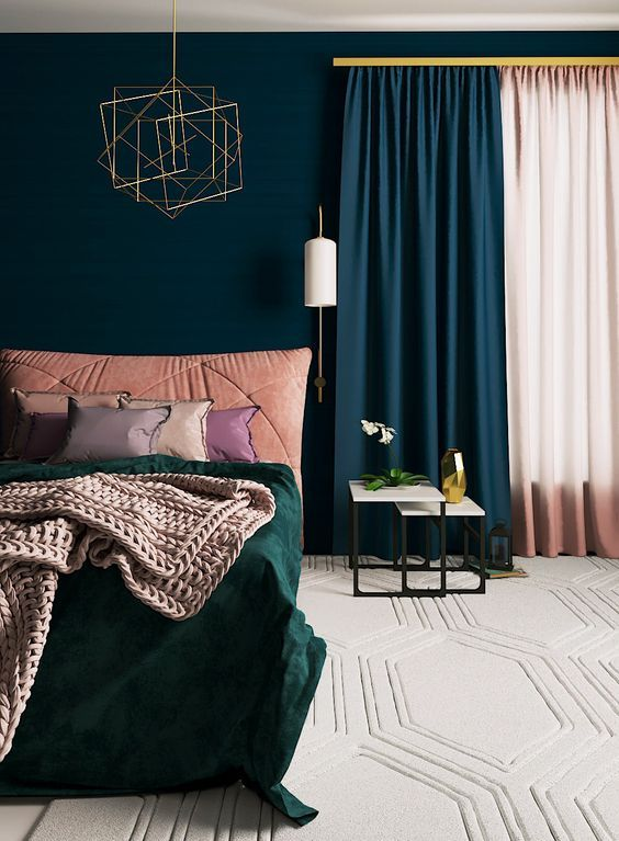 Bold Dark Bedroom Ideas You Might Want To Try Teal Bedroom Walls Teal Bedroom Decor Bedroom Decor