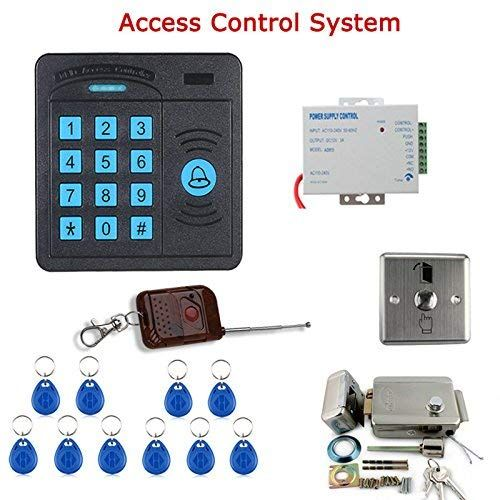 Mountainone Door Access Control System Controller Abs Case Rfid Reader Keypad Remote Control 10 Id Cards Access Control Access Control System Door Lock System