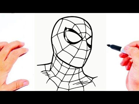 How To Draw Spiderman Easy Cute Spiderman Drawing Things To Draw Draw So Cute Youtube Spiderman Drawing Cute Drawings Drawings