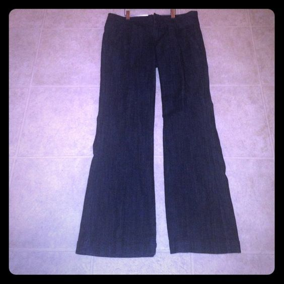 """Maurice's jeans . Wore once.  They are flattering Maurice's  dress jeans super cute . Just don't have any need for dress jeans at this point. Two back pockets . Very flattering on . U will love these """"... These are dress jeans paid $60 wore once really cute """"!!! These are super cute retailed at $60 wore once !!! These were wore once. No pockets , fits like dress slacks . HOT❤️ Maurices  Pants"""