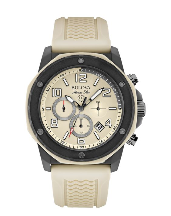Instock 30 off bulova marine star watch 98b201 chronograph retail price 299 sale for Retail price watches