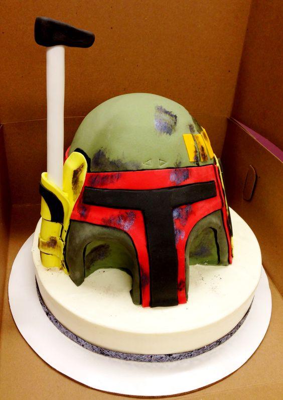 boba fett and stormtrooper fondant cakes