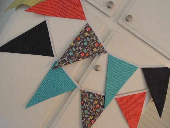 DIY, Bunting, Banner, Garland, Fabric, Pattern Tutorial, pdf, Instant Download