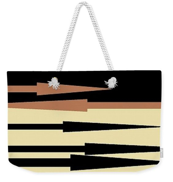 Weekender Tote Bag of 'Spear Thrower 7' by Sumi e Master Linda Velasquez.
