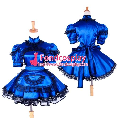Free Shipping Satin Sissy Maid Dress lockable Uniform cosplay costume Tailor-made #Sissy maids http://www.ku-ki-shop.com/shop/sissy-maids/free-shipping-satin-sissy-maid-dress-lockable-uniform-cosplay-costume-tailor-made-3/