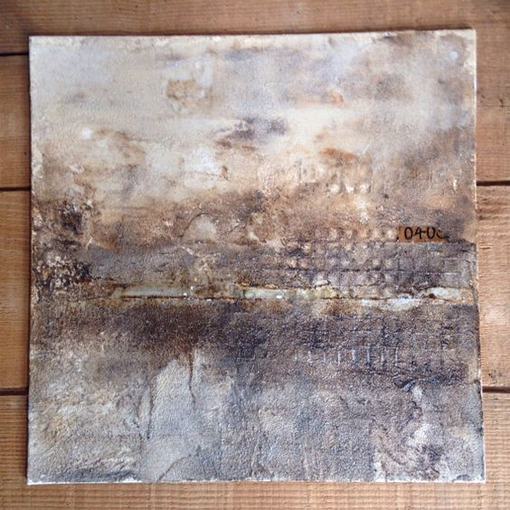 8x8 Textured Abstract mixed media painting by DearIndustry on Etsy