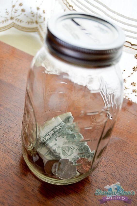 Pinterest the world s catalog of ideas for Mason jar piggy bank