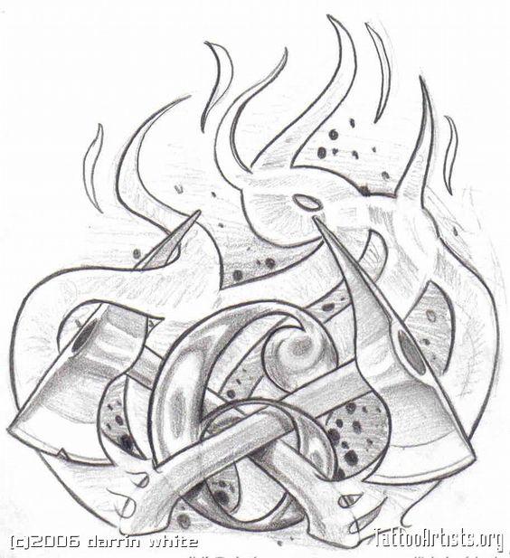 firefighter tattoo designs clip art | Fireman Tattoos Firefighter Shield Badge - santattoos.com