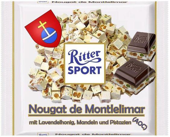 RITTER SPORT Fake Sorten Nougat de Montlelimar