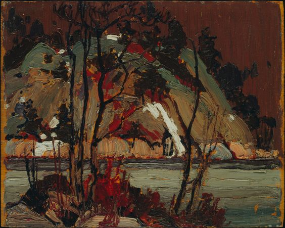 Tom Thomson Catalogue Raisonné | Early Spring in Cauchon Lake, Spring 1916 (1916.57) | Catalogue entry