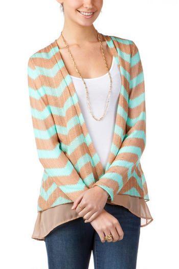 Francesca's   Womens Clothing Stores & Online Boutique Concordia Chevron Wrap