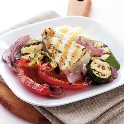 Mediterranean Seafood Grill with Skordalia Recipe - Health Mobile