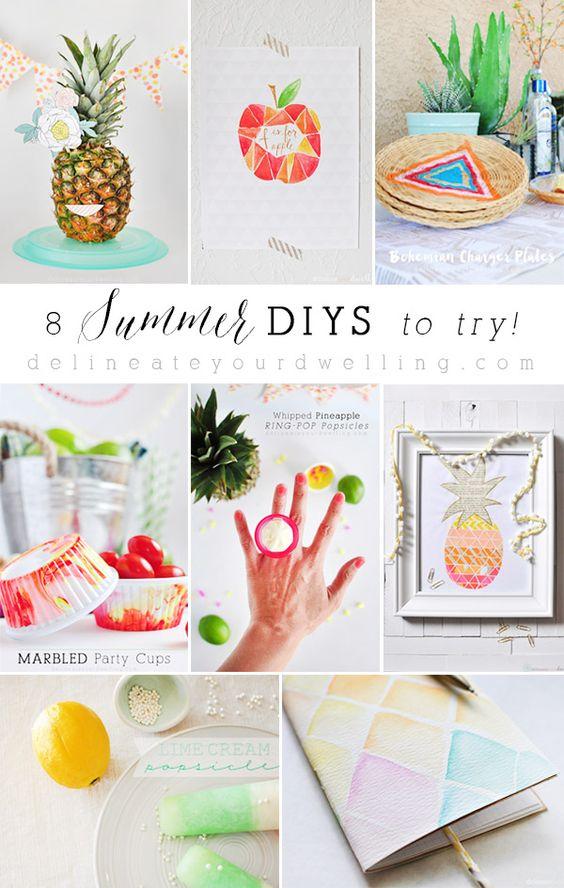 8 Summer DIYS to try