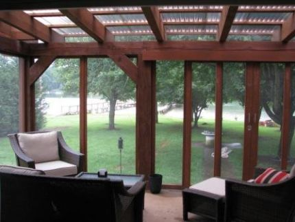 Screen Porch W Polycarbonate Roof Porch Pinterest