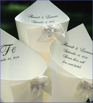 wedding cones w/monograms