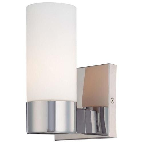 Minka Lavery 4 5 In W 1 Light Chrome Modern Contemporary Wall Sconce Lowes Com Contemporary Wall Sconces Wall Sconce Lighting Minka Lavery