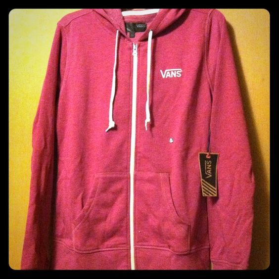 VANS Jacket A little darker than picture. Beautiful shade of magenta Vans Jackets & Coats