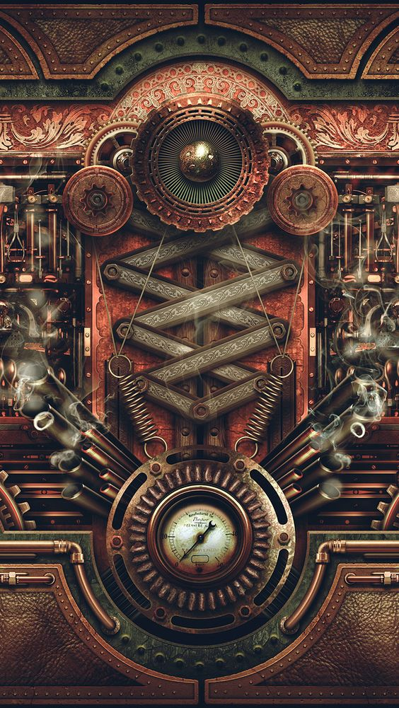 steampunk gears wallpaper - photo #23