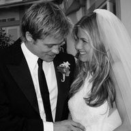 Brad Pitt and Jennif - Brad Pitt and Jennifer Aniston tied the knot in Malibu in July 2000. See more iconic celebrity weddings here!