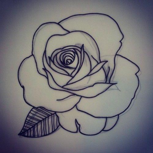 Pics Photos Rose Flower Outline Tattoo Flower Outline Photos Pics Rose Ta Flower Outline Photos P In 2020 Flower Outline Tattoo Flower Outline Rose Flower