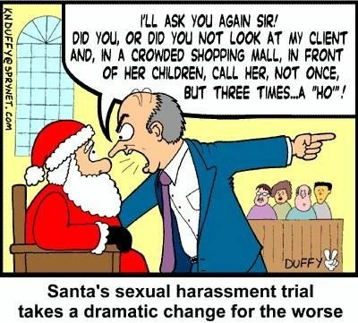 Santa's harassment trial
