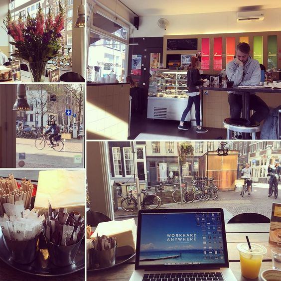Getting some work done at Coffee Company #amsterdam #netherlands. #digitalnomad #travel #remotework #workhardanywhere #coffice #workandtravel #workanywhere #wha #nomad #cafe #coffee #coffeeshop #appleandcoffee #workremote #remoteworking #codeanywhere #remoteoffice