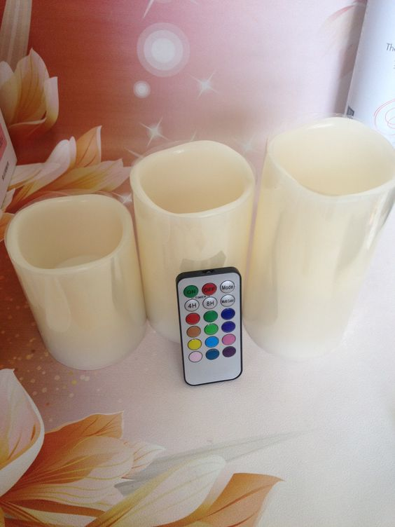 led candle ,12colors changing