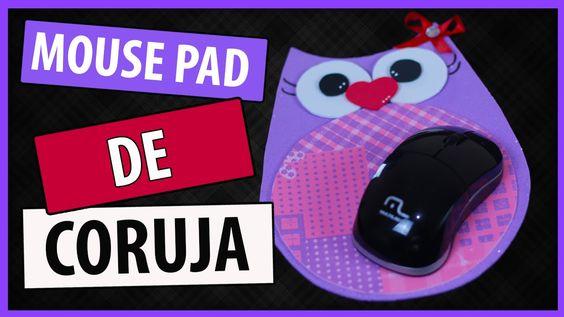 DIY: MOUSE PAD DE CORUJINHA - Fácil, Barato e Lindo