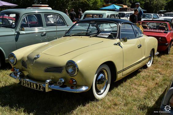 Volkswagen Karmann Ghia à Marçon Classic #MoteuràSouvenirs Reportage : http://newsdanciennes.com/2016/08/16/marcon-classic-2016-les-anciennes-ne-font-pas-le-pont/ #Voiture #Ancienne #ClassicCar