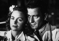 John Wayne and Donna Reed