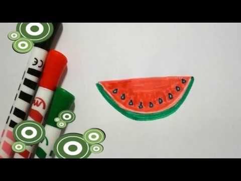 Wassermelone Zeichnen Lernen Obst Malen How To Draw Watermelon Kak Narisovat Arbuz Youtube Zeichnen Lernen Wassermelone Zeichnen