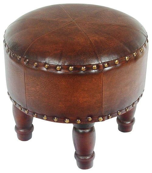 leather stool small ottoman