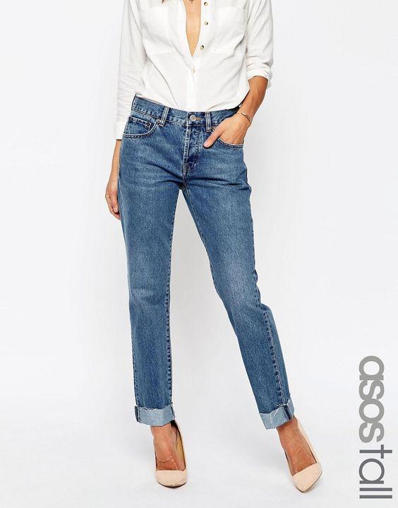 Bild 1 von ASOS TALL – Boyfriend-Jeans in Karottenform