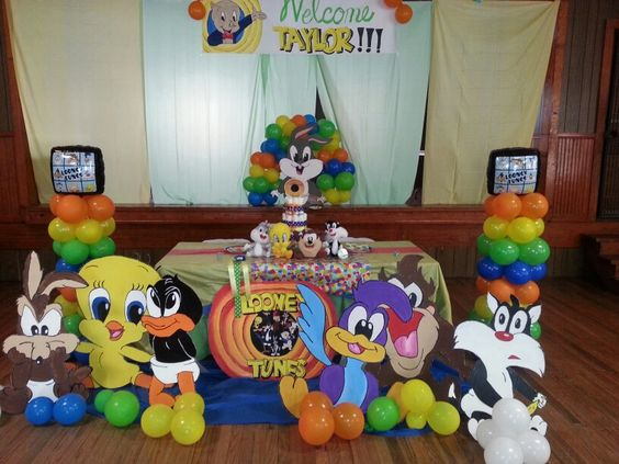 looney tunes baby shower lets plan a party 2 kemoco whimsy events