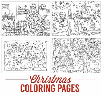 christmas village coloring pages - pinterest the world s catalog of ideas
