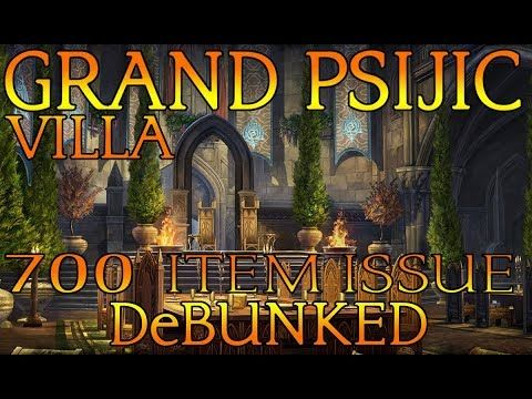 Eso Grand Psijic Villa 700 Item Limit Debunked Youtube Grands