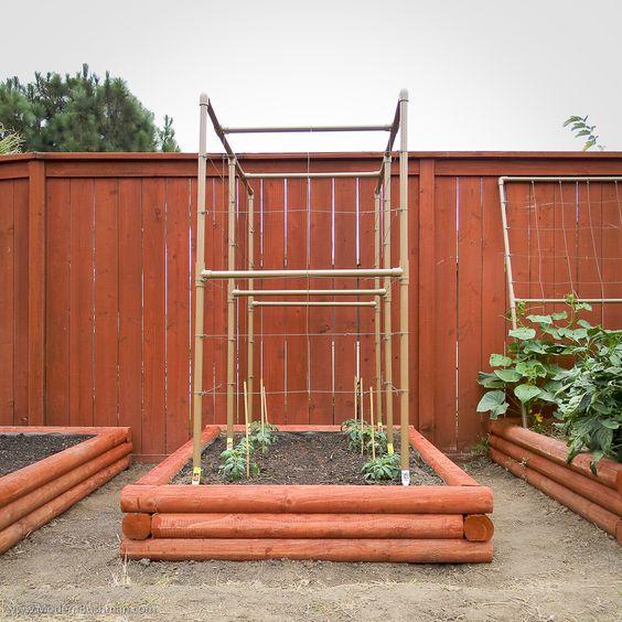 Diy Raised Bed Vegetable Garden For Under 24 Each Modern Bushman Garden Pinterest
