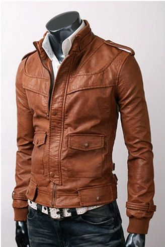handmade Men Tan brown color Leather Jacket men by ukmerchant ...