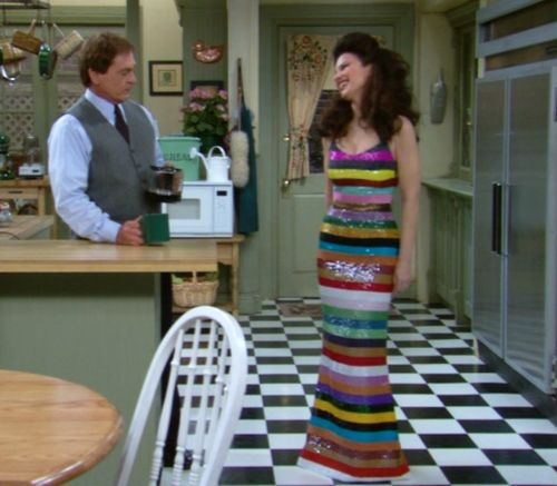 The Nanny - Fran Drescher - 'lifesavers dress' - via http://surly-temple.tumblr.com
