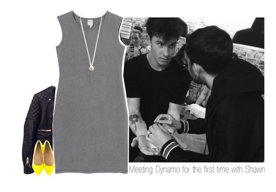 """Meeting Dynamo for the first time with Shawn"" by one-direction-makes-me-strong ❤ liked on Polyvore featuring Balenciaga, Monki, Dorothy Perkins, Classified, shawnmendes and dynamo"