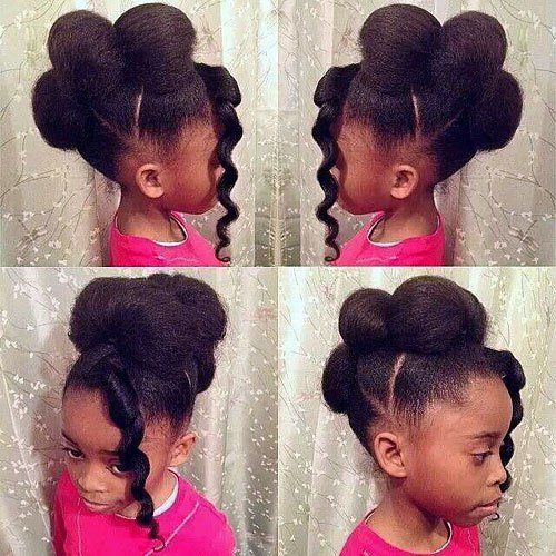 Remarkable Black Girls Hairstyles Updo And Girls On Pinterest Hairstyles For Women Draintrainus