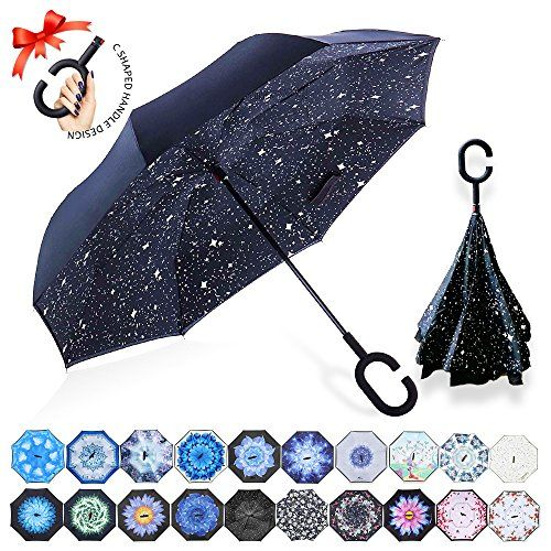 Dolphin in Deep Blue Sea Customized Folding Windproof outdoor Travel Umbrella for Women