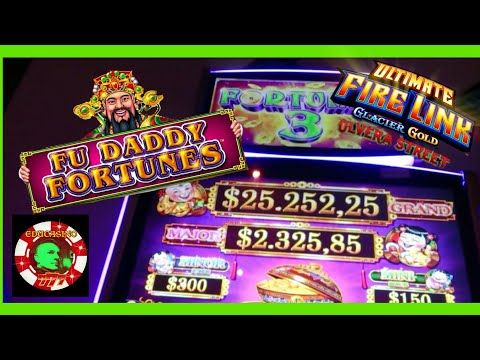 Fortune 3 Fu Daddy Fortune My New Favorite Slot First Attempt Ufl Glacier Gold Youtube