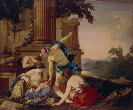 Mercury Takes Bacchus to be Brought up by Nymphs - Laurent De La Hire