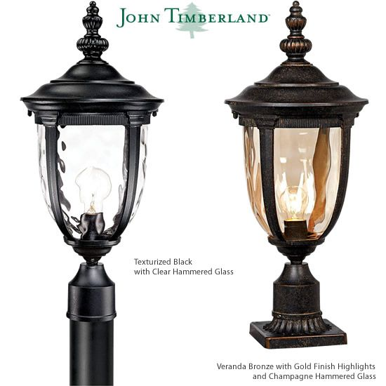 John Timberland Bellagio Carriage Style Outdoor Post Lights