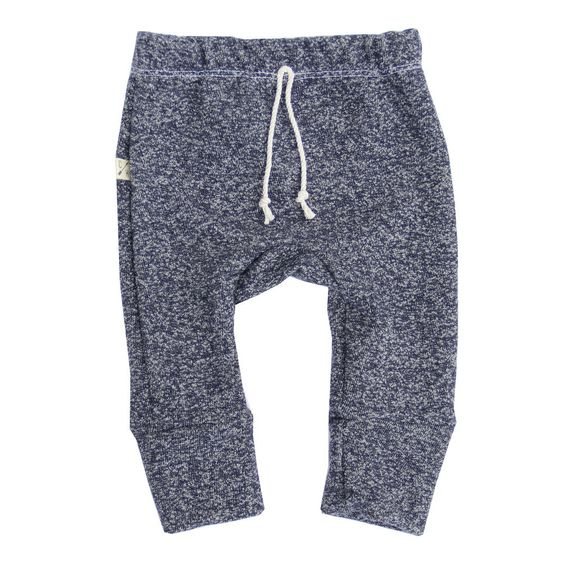 Navy Heather Gusset Pants $42.00  Slim fitting sweats with elastic waist and faux drawstring. Gusset added for perfect fit.