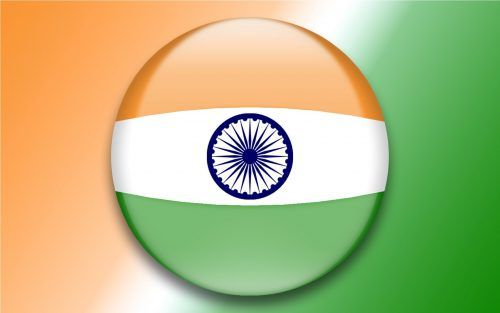 Indian National Flag In 3d Animated With Three Colors Indian
